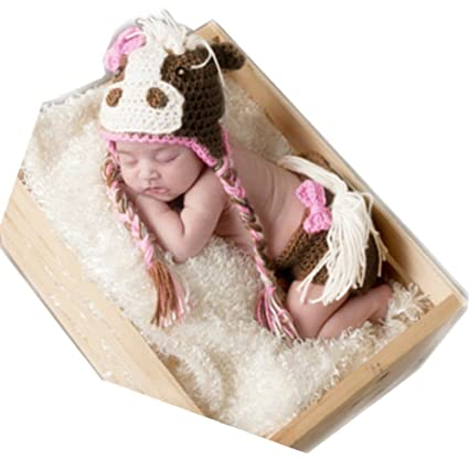 378af2e87 Amazon.com   Newborn Monthly Baby Photo Props Outfits Crochet Horse ...