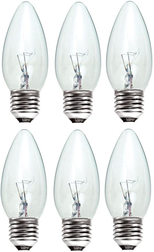 BC B22 Lamps 6x 40W Clear Candle Dimmable Incandescent Light Bulbs Bayonet Cap