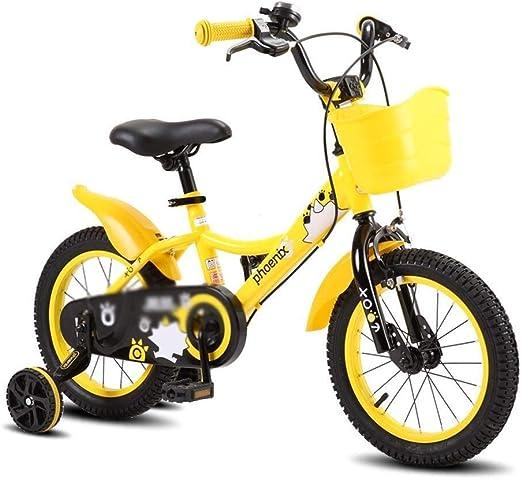 AJZGF Bicicletas niños Bicicleta de niño niña Bicicleta Azul 2-4-6 ...