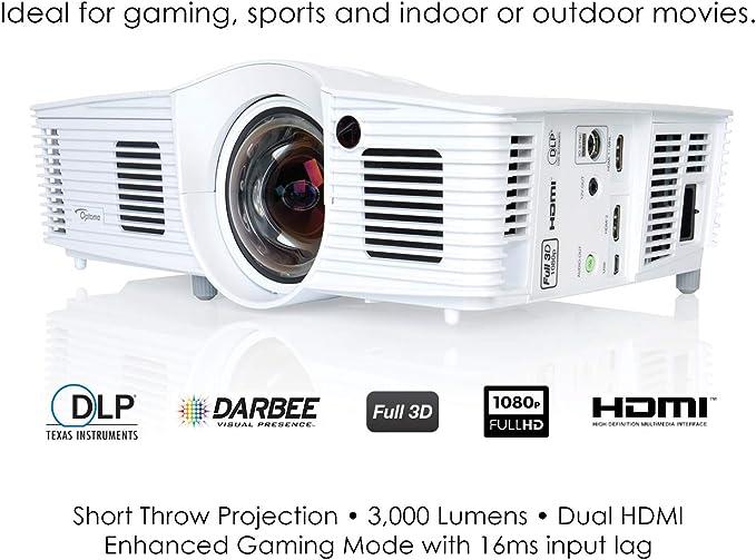 Optoma GT1080Darbee Video - Proyector (3000 lúmenes ANSI, DLP ...