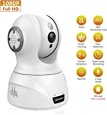 JOOAN 2MP WiFi Home Security Camera with Night Vision Two-Way Audio &Sound Detection& Smart Tracking Work with Alexa 1080P HD Indoor Wireless Surveillance Cameras for Baby Elder Pet Nanny Monitor