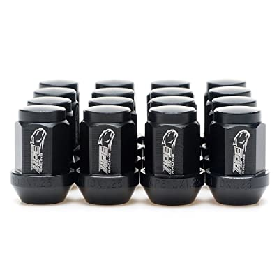 APE RACING Black Acorn Wheel Lug Nuts Forged 7075-T6 Aluminum 10x1.25mm Tapered Lugnuts (Pack of 16) for ATV UTV, 17mm Hex Head 60 Conical Seat, Extremly Light Weight and Corrosion Resistance: Automotive