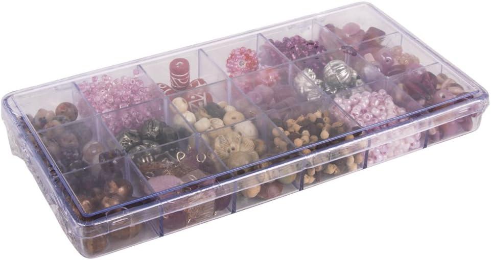 Rayher 14115392 bo/îte de perles de verre de couleurs et tailles Mix bo/îte 240/g Turquoise