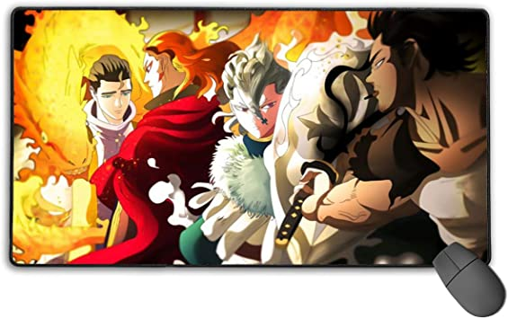 Amazon Com Custom Gaming Mouse Pad With Stitched Edges Waterproof Computer Mousepad Designed For Accurate Control 15 7 X 29 5 In Black Clover Anime Julius Novachrono Character Poster Office Products As the wizard king, he firmly believed in the path he had walked and the future he wanted for everyone, so a very fierce. amazon com custom gaming mouse pad