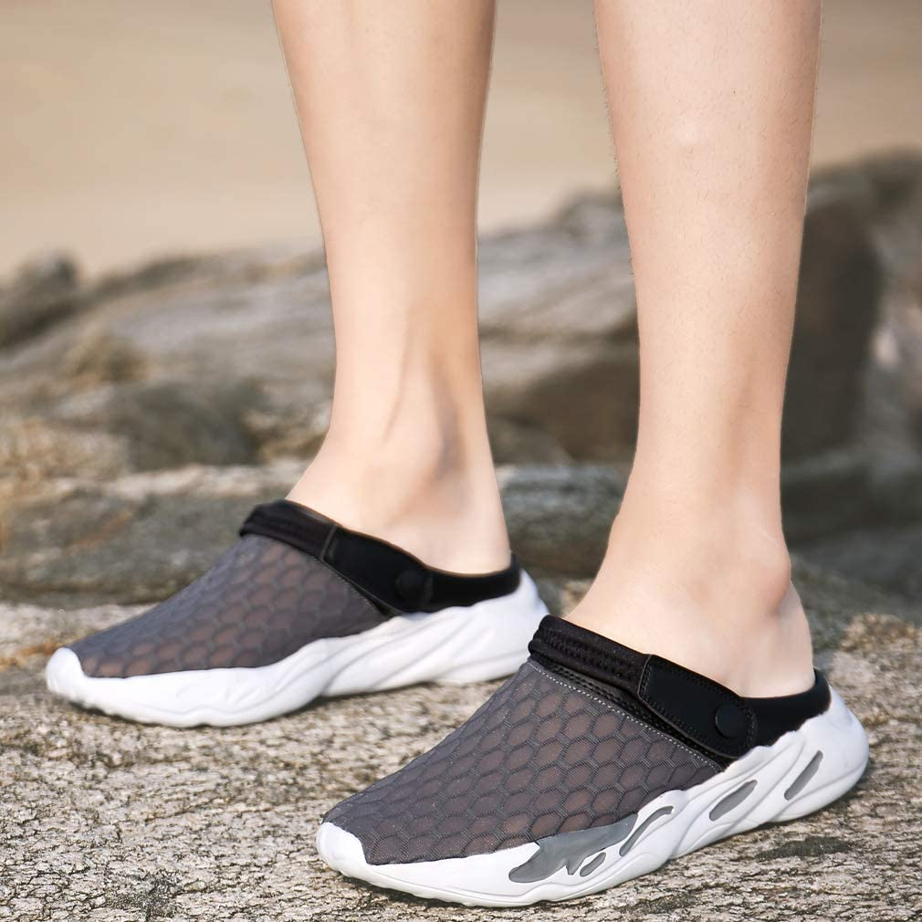 Uomo Zoccoli Donna Pantofole Spiaggia Giardinaggio Traspirante Antiscivolo Scarpe da Doccia Estive Sabot Ciabatte Infradito