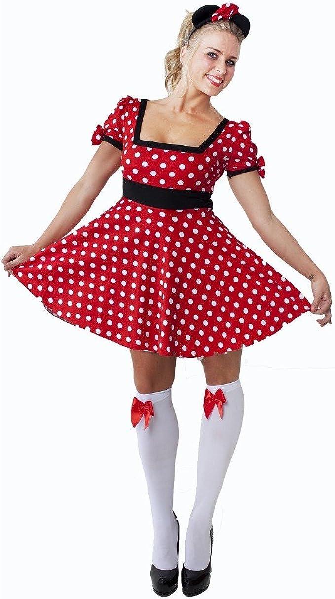 Disfraz sexy de Minnie Mouse para adulto, de Halloween, tallas ...