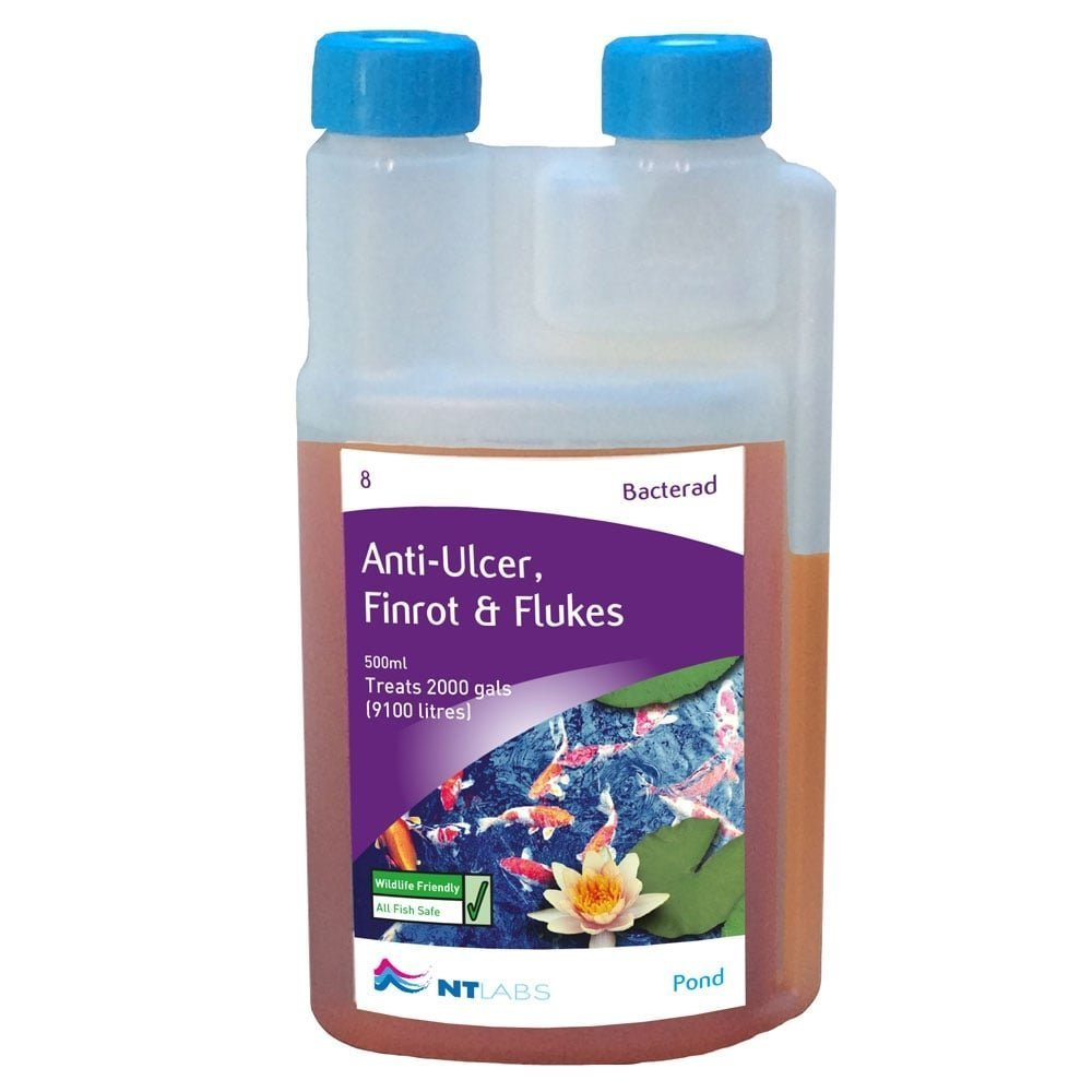 NT Labs Pond Aid Bacterad Anti-Ulcer, Fin-Rot & Flukes 1ltr 1200g NTL65109