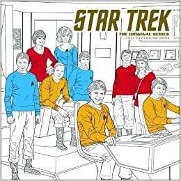 amazoncom star trek the original series adult coloring book 9781506702520 cbs books - Star Trek Coloring Book