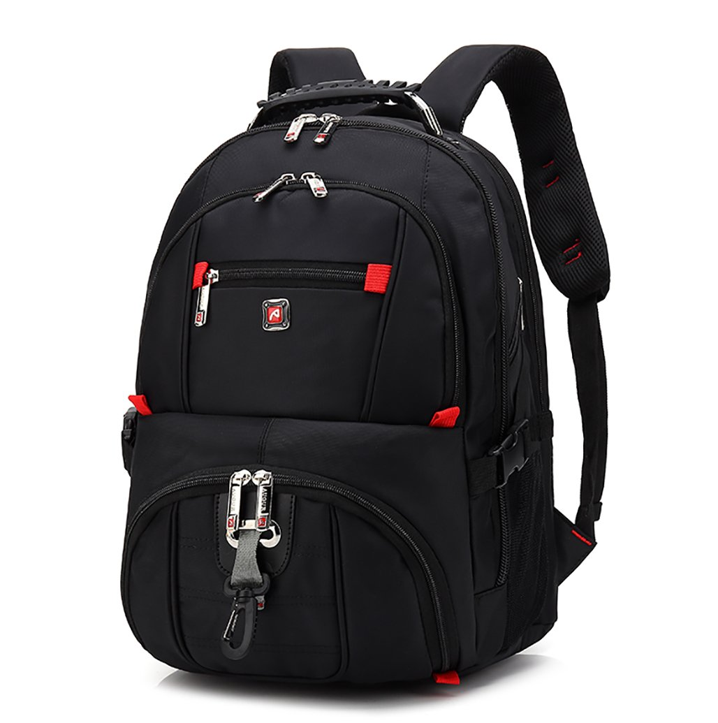 HuaChen Laptop Backpack,Travel Backpack for College Back to School Bookbags,Backpack for Men Women,Fits Most 15 Inch Laptops and Tablets (M58_Black) by HuaChen