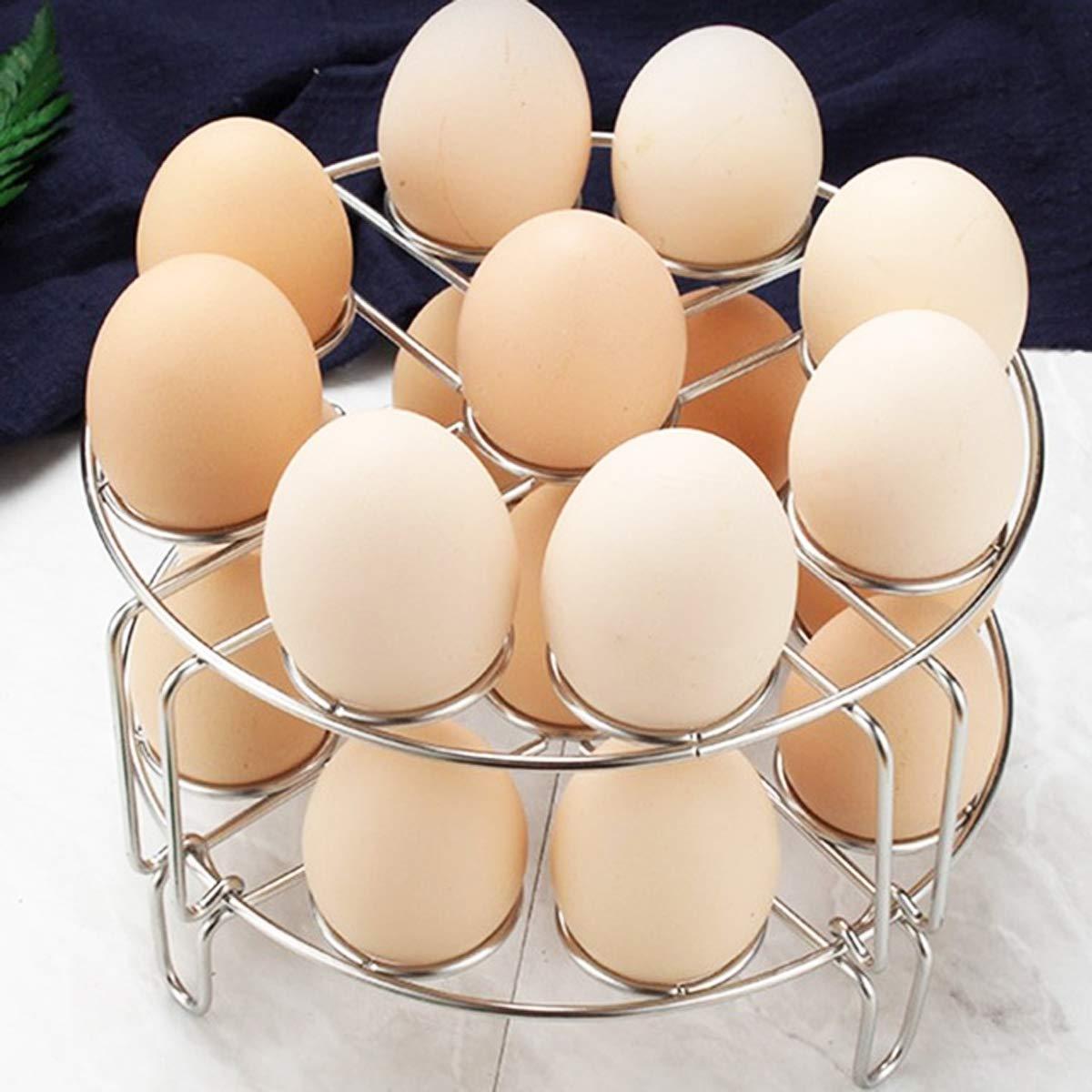 2 Pack Baitaihem Stainless Steel Stackable Egg Steamer Rack Trivet for Instant Pot Pressure Cooker Accessories
