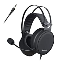 NUBWO Gaming headsets PS4, N7 Stereo Xbox one headset Wired PC Gaming Headphones with Noise Canceling Mic, Over Ear Gaming Headphones for PC/MAC/PS4/Xbox 1/Nintendo Switch/Mobile-Black