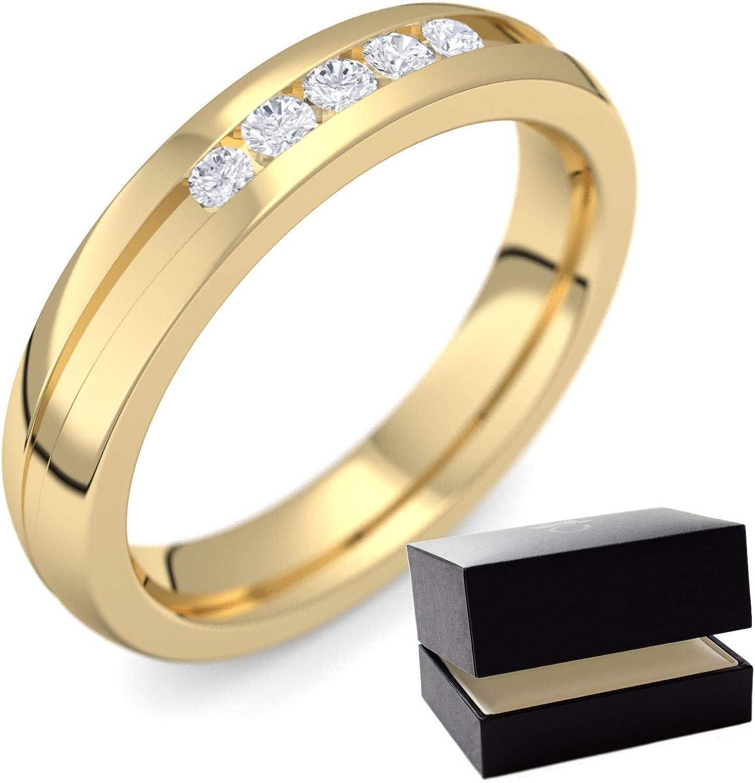 Oro de bodas circonios 585 + con Estuche + circonios anillo/compren circonios anillo de bodas de oro (oro 585) - amoonic matrimonio joyería ER29 GG585ZIFA: Amazon.es: Joyería