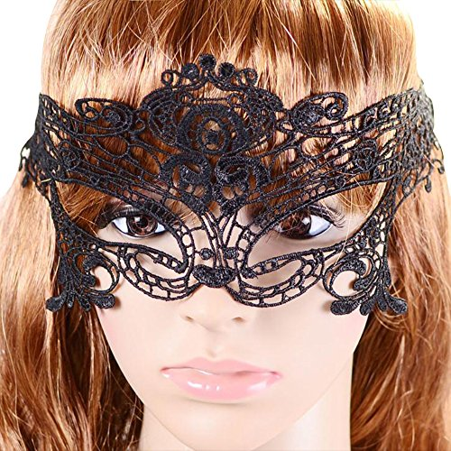 Happy Hours - Stylish Sexy Hollow Lace Eyes Mask for Fancy Dress Halloween Masquerade Party Bar -