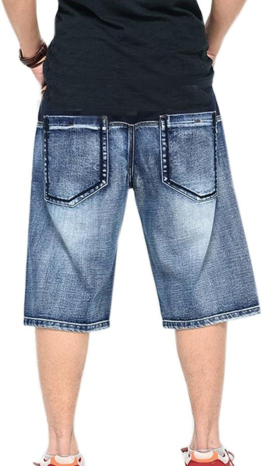 LIYT PLAGBIGG Mens Loose Jean Shorts