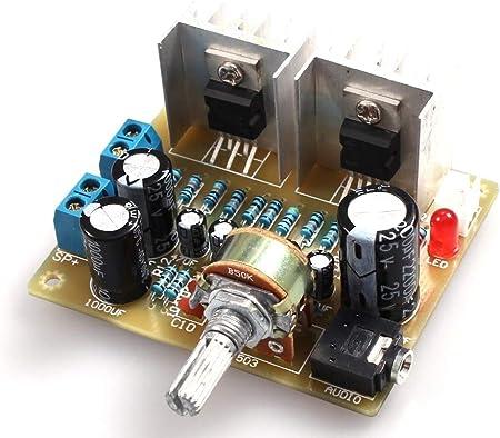 Kit de tarjeta de amplificador de potencia electrónica Tda2030A amplificador electrónico Dual Channel Power Board Diy Kit para Arduino Production ...