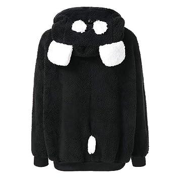 Escudo de las señoras Outwear Chaqueta Parka Oso lindo Oreja Panda Invierno Cálido Hoodie Chaqueta con