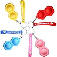 Mini Silicone Fidget Toy Key Ring, Poppers Toy, Fidget Keyring Pop It for Kids and Adults, Portable Anxiety Relief Toys…
