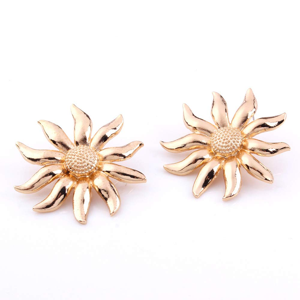 Girls Metal Earrings Birthday Party Hypoallergenic Stud Earrings for Women Valentines Day Gifts Gold