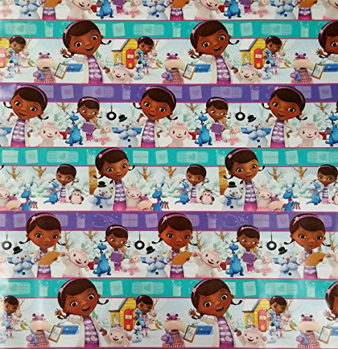 Doc McStuffins Wrapping Paper Bundle Gift Wrap Roll - 40 Square Feet 2 Rolls -