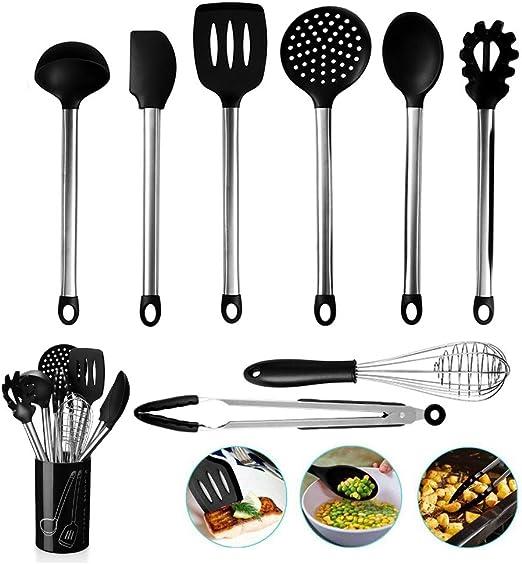 Floridivy Herramientas de Silicona Inoxidable Alicates de Comida Pinzas para Ensalada Pan Abrazadera Abrazadera Filete de Cocina