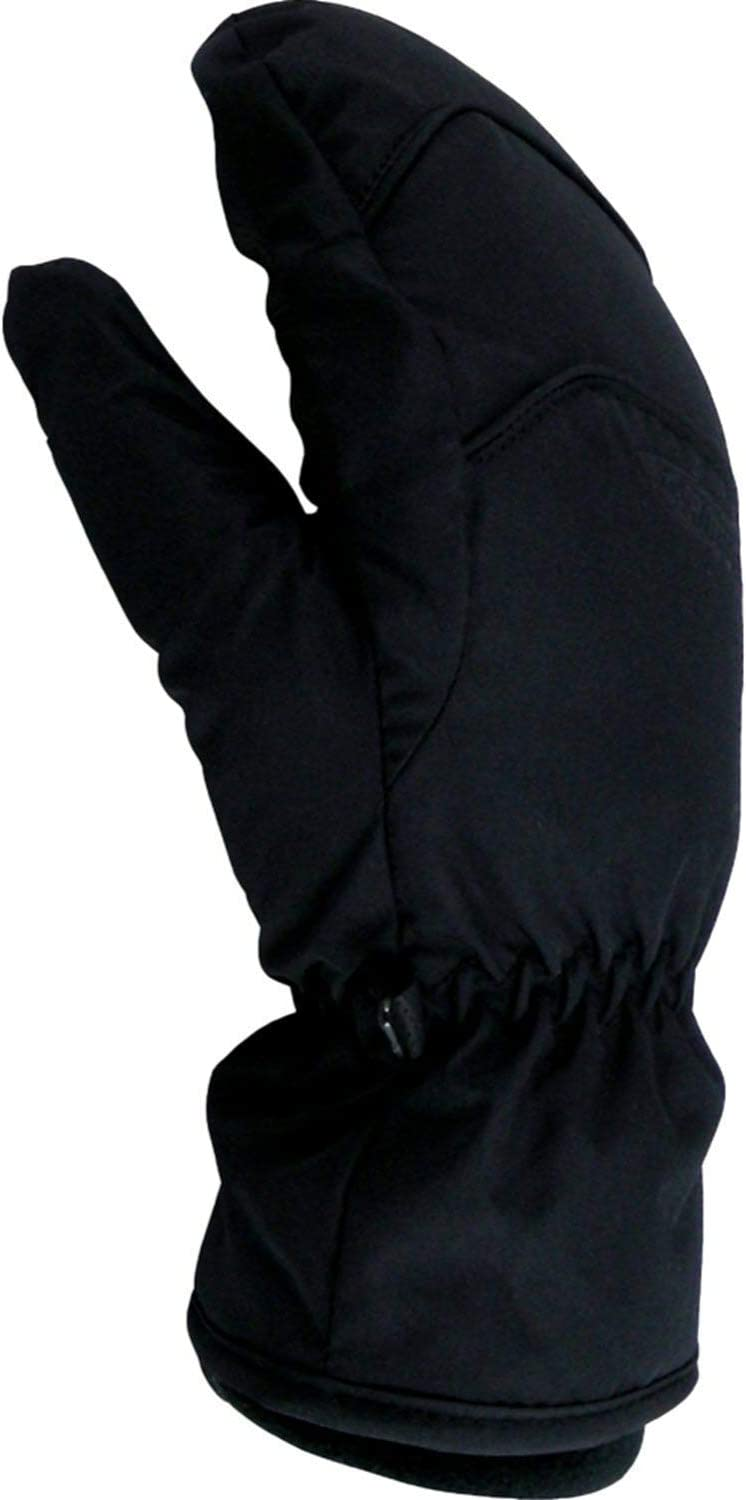 Black, Small Hot Fingers Youth Flurry II Mittens