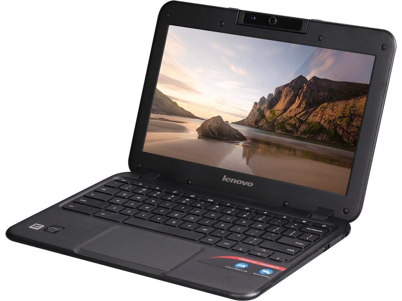 "Lenovo 80MG0001US-RB-AMZ2  N21 11.6"" HD 16GB SD Chromebook Intel Celeron N2840 4GB Wi-Fi Bluetooth (Renewed), Black"
