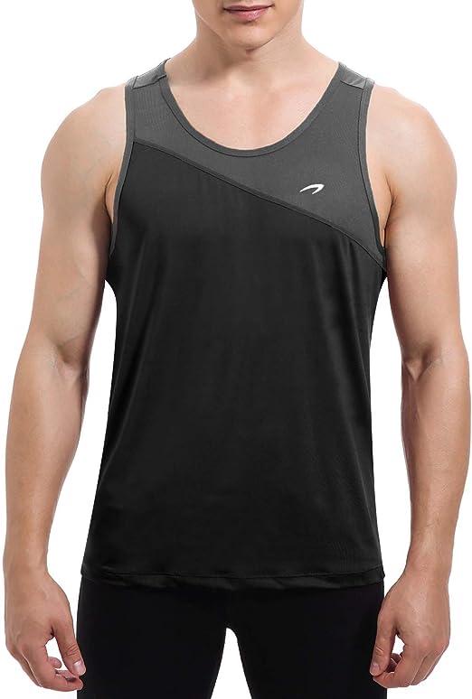 Lancy/_Luna Unisex Jersey Tank Mens Training Quick-Dry Sport Tank Top Shirt for Gym Fitness Bodybuilding Running Jogging