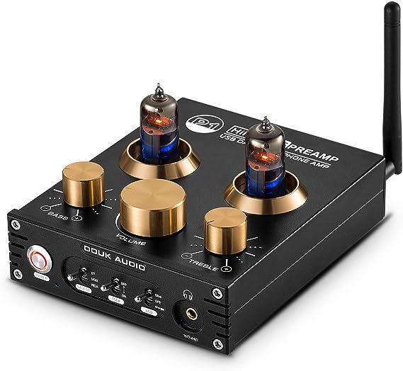 P1 Bluetooth 5.0 Vacuum Tube Preamplifier Hi-Fi Valve Headphone Amplifier Wireless Receiver Audio Decoder Preamp USB DAC APTX