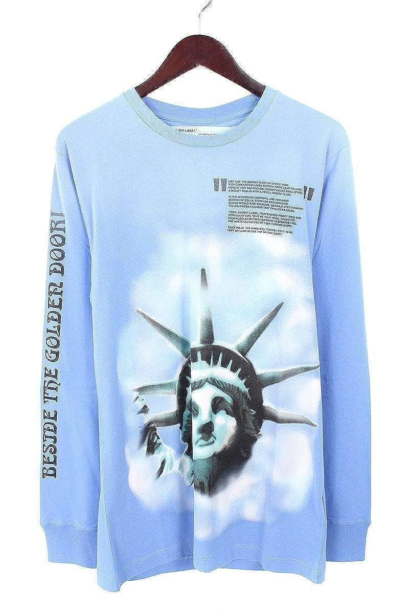 (オフホワイト) OFF-WHITE 【18AW】【BLUE LIBERTY L/S T-SHIRT】リバティープリント長袖カットソー(S/ブルー) B07FQ18VYS