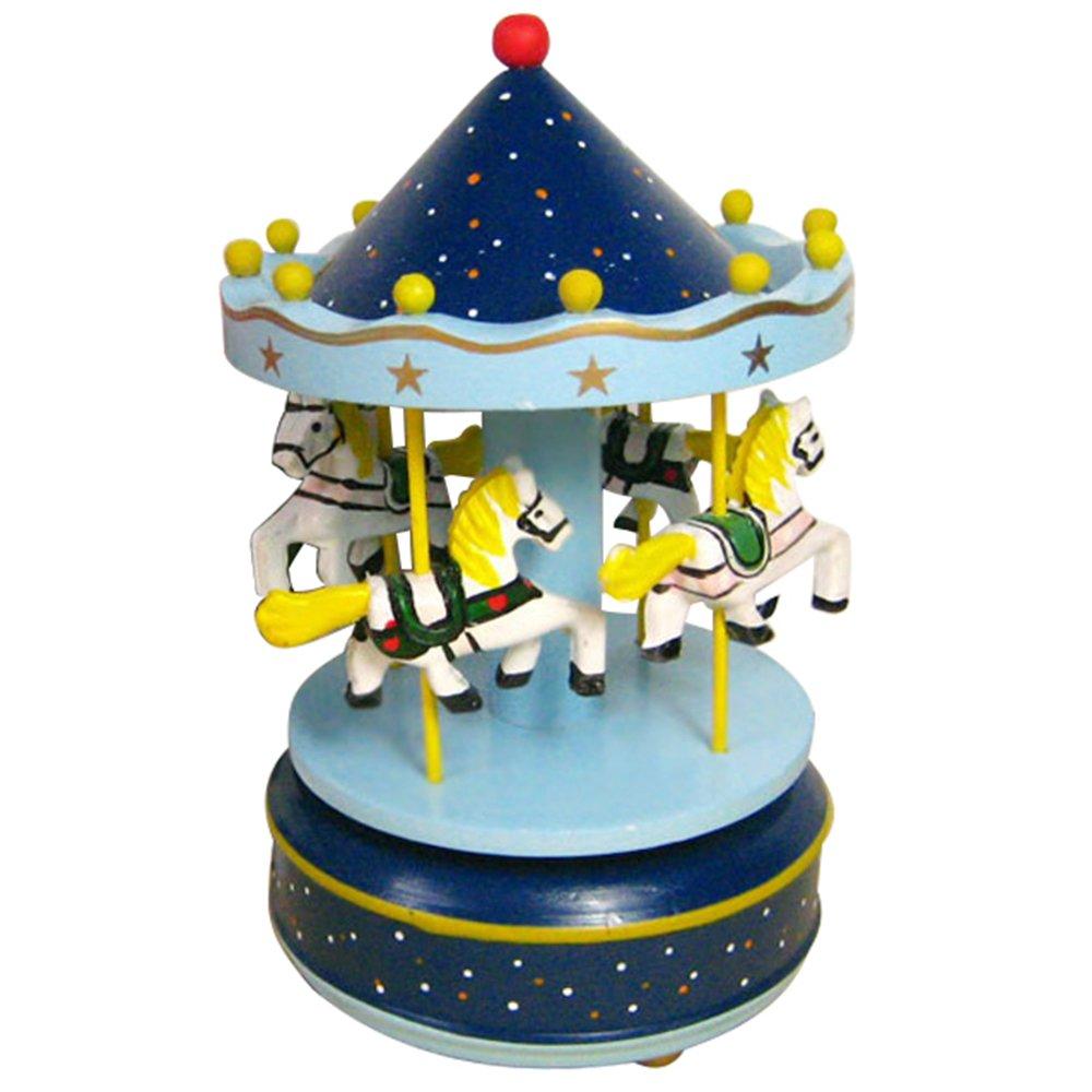 Vococal Carillon Giostra Carillon Carosello Carillon Cavalli Rotante Music Box Regali di Compleanno per Bambini Regali di Natale e Capodanno