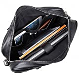 Acecle 3 Colors Available Men's Vintage Briefcase Laptop Bag 14 15.6 Inch Cowhide Handcrafted Multifunction All-in-one Business Handbag Messenger Shoulder Tote Bag