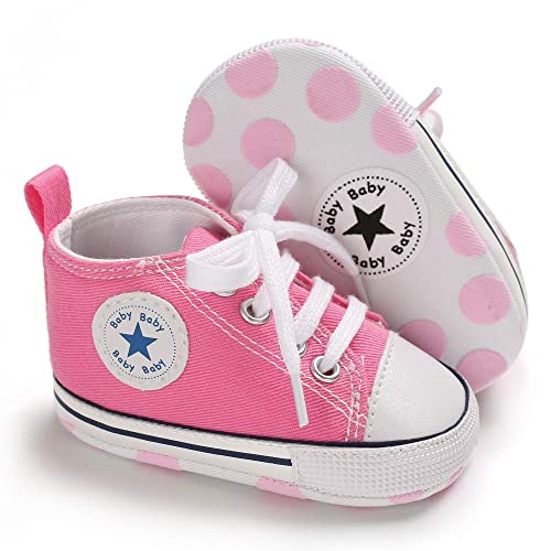 04276ab0618b5 Save Beautiful Baby Girls Boys Canvas Sneakers Soft Sole High-Top Ankle  Infant First Walkers
