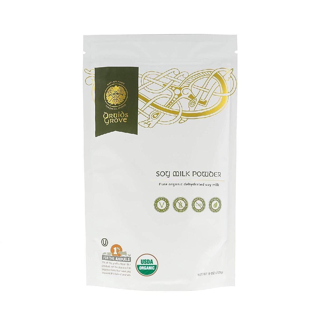 Druids Grove Soy Milk Powder ☮ Vegan ⊘ Non-GMO ❤ Gluten-Free ✡ OU Kosher Certified - 8 oz.