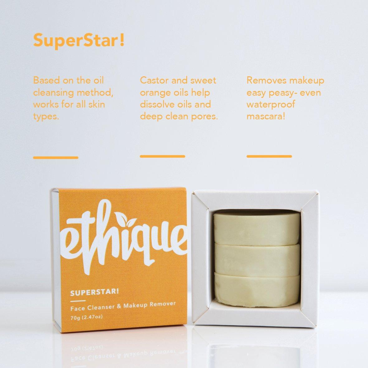 Ethique Face Cleanser & Makeup Remover, SuperStar! 2.47 oz by Ethique (Image #7)