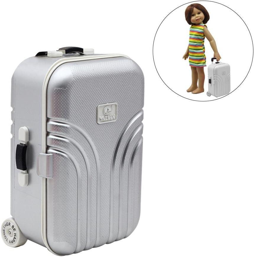 Per Maletas de Viaje Mini para Muñecas de Juguetes para Niños Juegos de Accesorios Miniatures para Muñecos de 18in