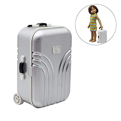 TODAYTOP Toy Suitcase for Dolls Travel Train Suitcase Luggage Case Doll Dress Storage Case Toys for