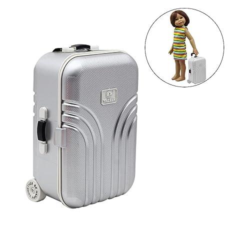 Per Maletas de Viaje Mini para Muñecas de Juguetes para ...