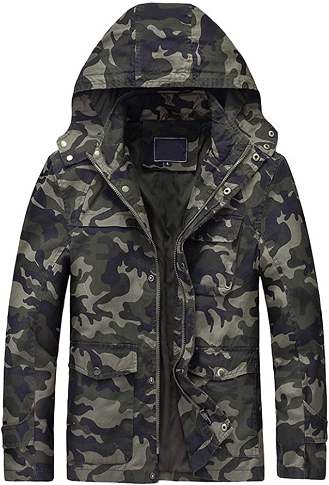 UJUNAOR Fashion Mens Autumn Winter Packwork Hooded Zipper Jacket Knit Cardigan Long Sleeve Coat