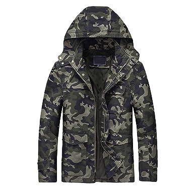 Camouflage KapuzeJacke Männer Winter Mayogo Mit Mäntel jqRA435L