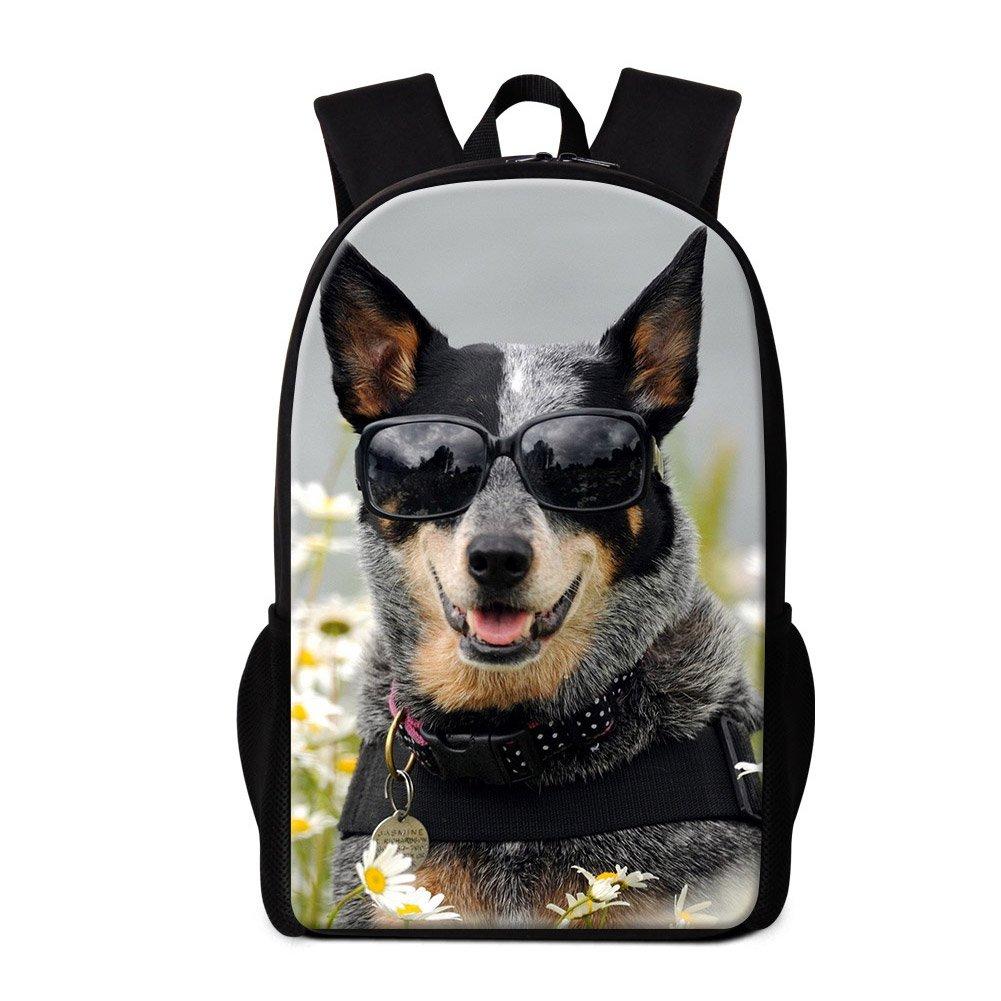 Amazon.com: ZRENTAO Cute Dog Print School Backpack For Junior High School Student Boys Girls Mochila Schoolbag Kids Casual Dapyack: Sports & Outdoors