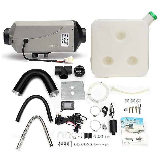 banbie8409 8kw / 12v escogen el calentador de aire diesel del coche del silenciador del interruptor del LCD para el camión del barco rv: Amazon.es: Coche y ...