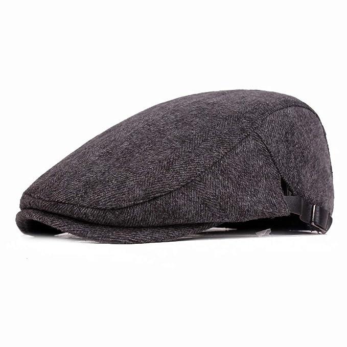 678bacd2 Ambysun Men's Cotton Flat Cap Gatsby Duckbill Hat Newsboy Ivy Irish Cabbie  Scally Cap (Grey): Amazon.ca: Clothing & Accessories