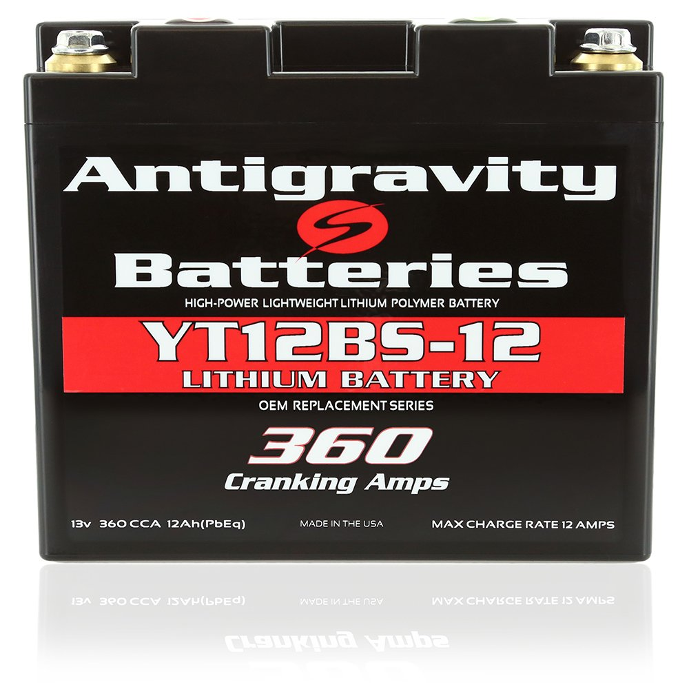 Antigravity Batteries YT12BS-12 Lithium Motorsports Battery, OEM Replacement Series