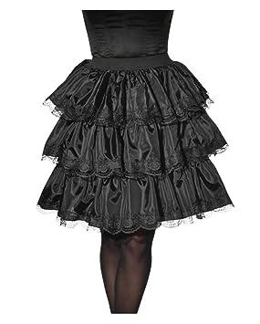 Horror-Shop Falda con Volantes y Encaje Negro One Size: Amazon.es ...