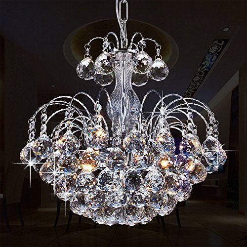 Glighone Crystal Chandelier Ceiling Pendant Light 3 x G9 Ceiling Lamp for Living Room Lamp Hallway Bedroom Kitchen Study Room Office Dining Room Lighting (Bulbs included) GL-436870800