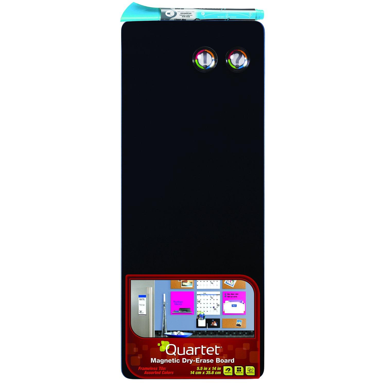 Quartet Dry-Erase Board, 5 1/2 x 14 Inches, Black (90223-BK)