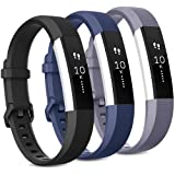 Pack 3 Replacement Band Compatible for Fitbit Alta Bands/Fitbit Alta HR Bands, Adjustable Replacement Soft Silicone…