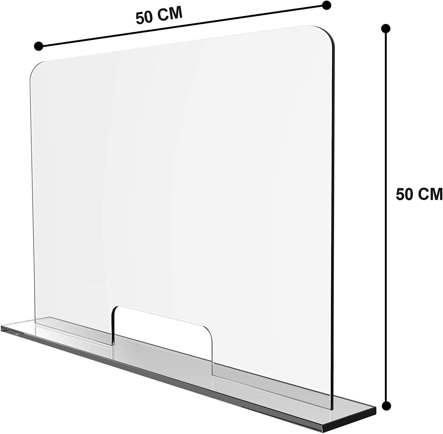 Droplets Protection Sneeze Guard Bar Top with Hatch Sneeze Guard Table Top Counter Top for Pharmacies and Medical Practices Counter Display Protector,30 x 50 cm Spit Protection Bar Top