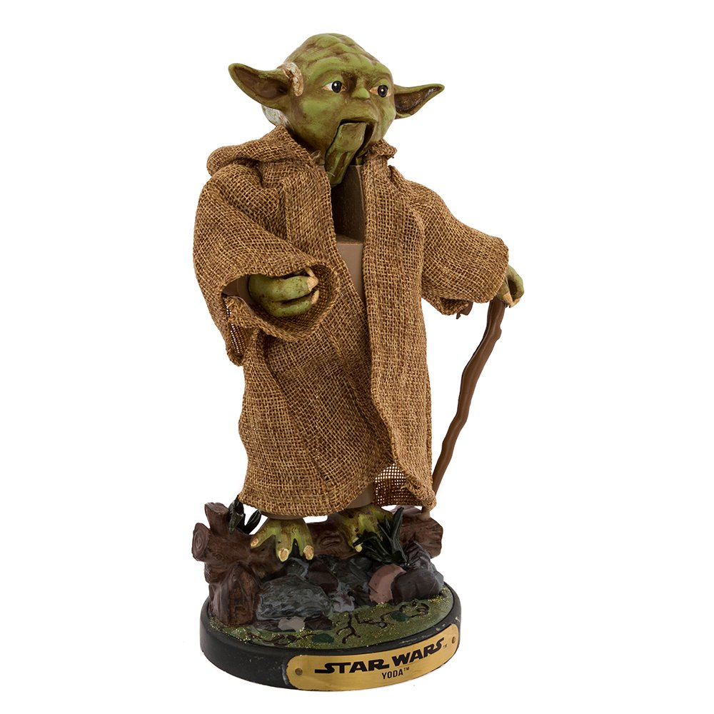 Kurt Adler 12-Inch Star Wars Hollywood Yoda Nutcracker