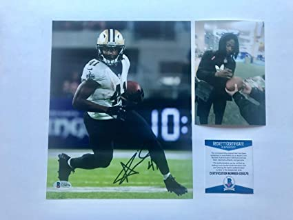 bb554b57 Alvin Kamara Rare Autographed Signed Autograph Saints Brees 8x10 Photo  Beckett Beckett Authentic